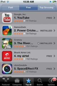 Power Cricket T20, #2 app on India iTunes Store