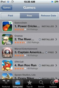 Power Cricket T20, #1 game app on India iTunes Store
